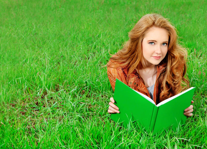 Download Book stock photo. Image of hair, smile, adult, school - 20259630