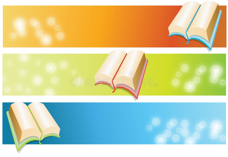 Book. Vector abstract book banner colourful blurred