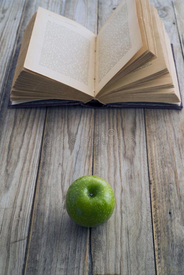Download Book and apple stock photo. Image of literature, symbol - 37487204