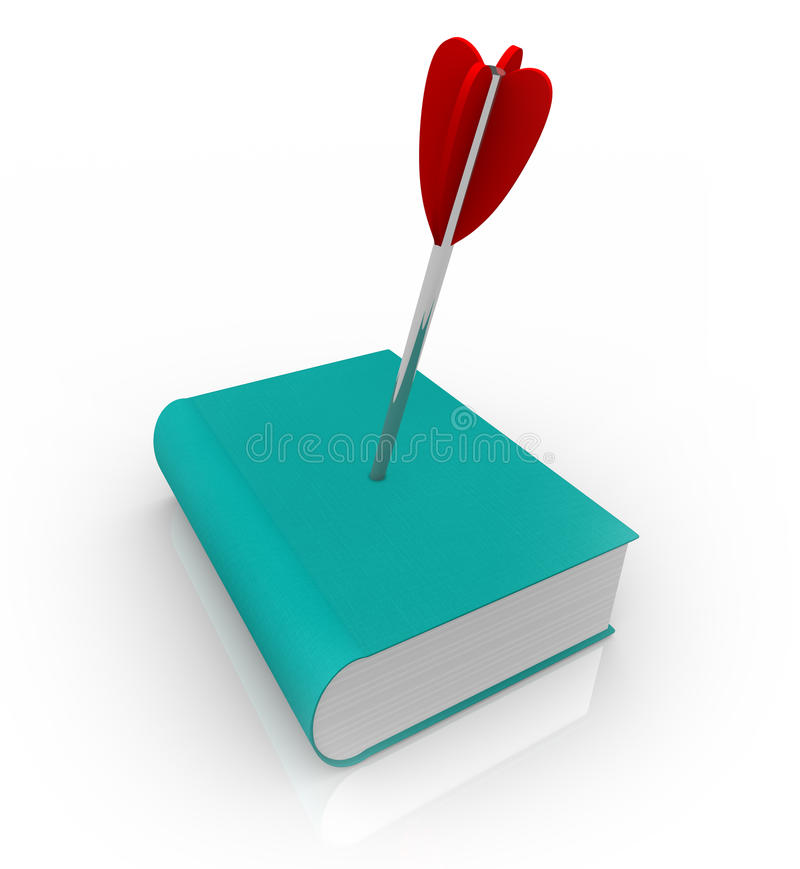 Download Book With Arrow In Cover - Death Of Old Media Royalty Free Stock Images - Image: 19179999
