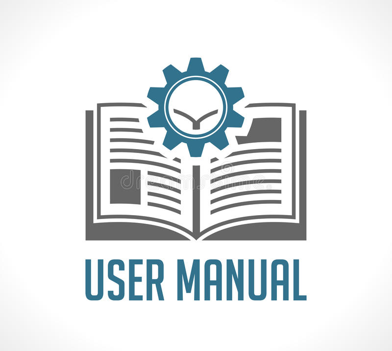 Book as knowledge base - User guide manual. Concept royalty free illustration