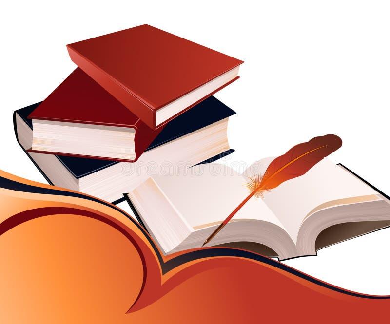 Book_background royalty-vrije illustratie