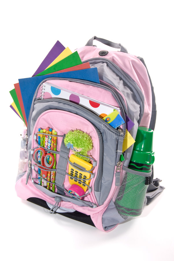 Download Book Bag stock photo. Image of yellow, supplies, pack - 2903140