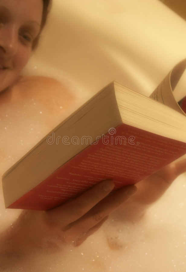 Download Book in the bath stock image. Image of content, foam, bathroom - 103909