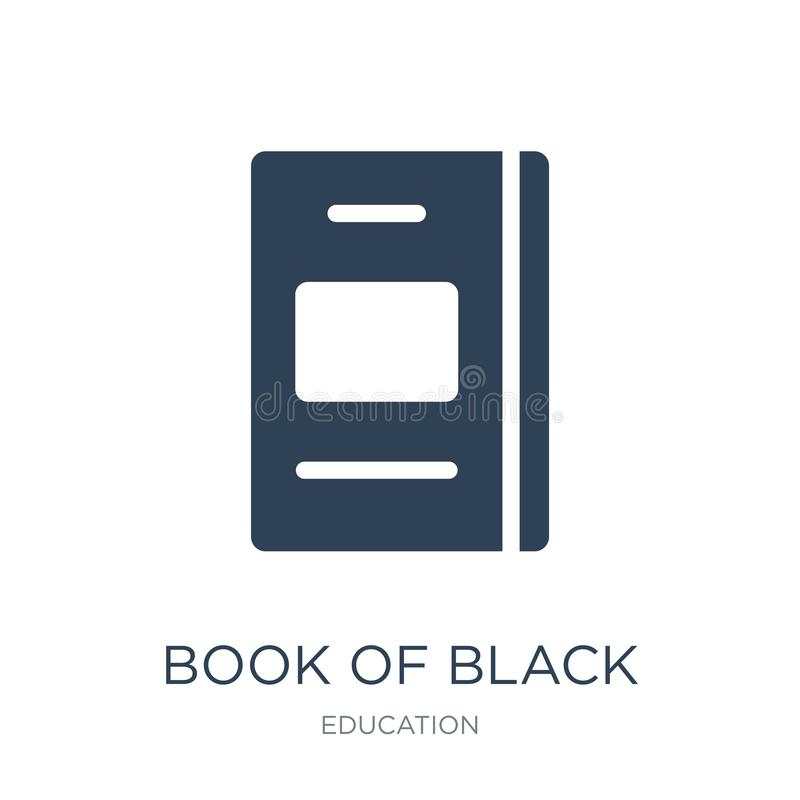 Book of black cover icon in trendy design style. book of black cover icon isolated on white background. book of black cover vector. Icon simple and modern flat royalty free illustration