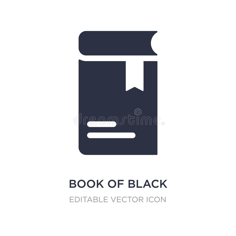 Book of black cover icon on white background. Simple element illustration from Education concept. Book of black cover icon symbol design stock illustration