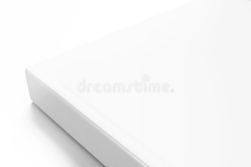 Book with blank cover on white background vector illustration