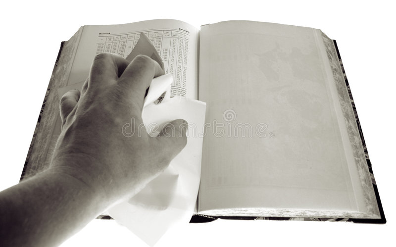 Book blank page censorship stock photography