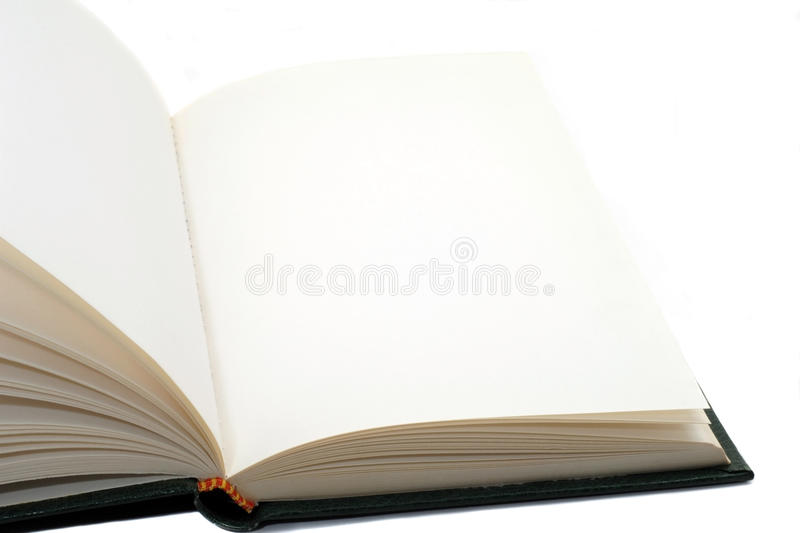 Book with blank pages. Open book with blank pages stock photography