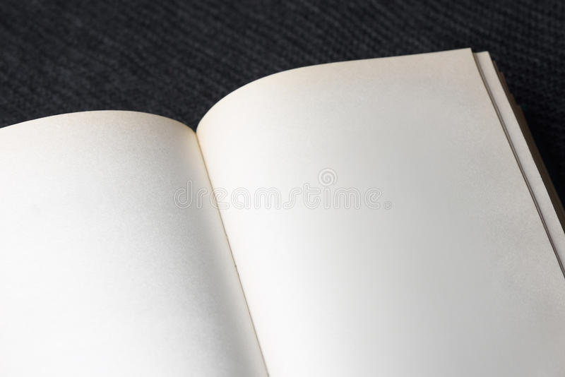 Book with blank pages. Background for design. Turn the book with blank pages royalty free stock photography