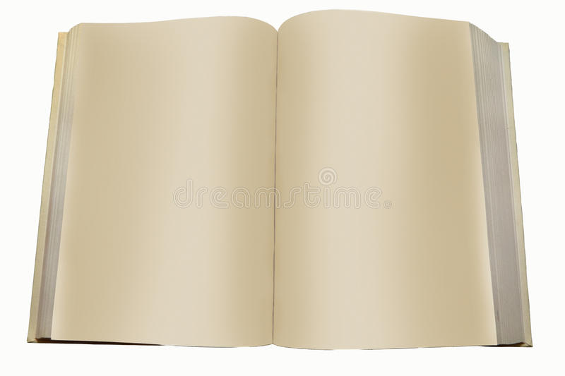 Book with blank pages isolated white background. The image of a book with blank pages isolated on white background royalty free stock photography