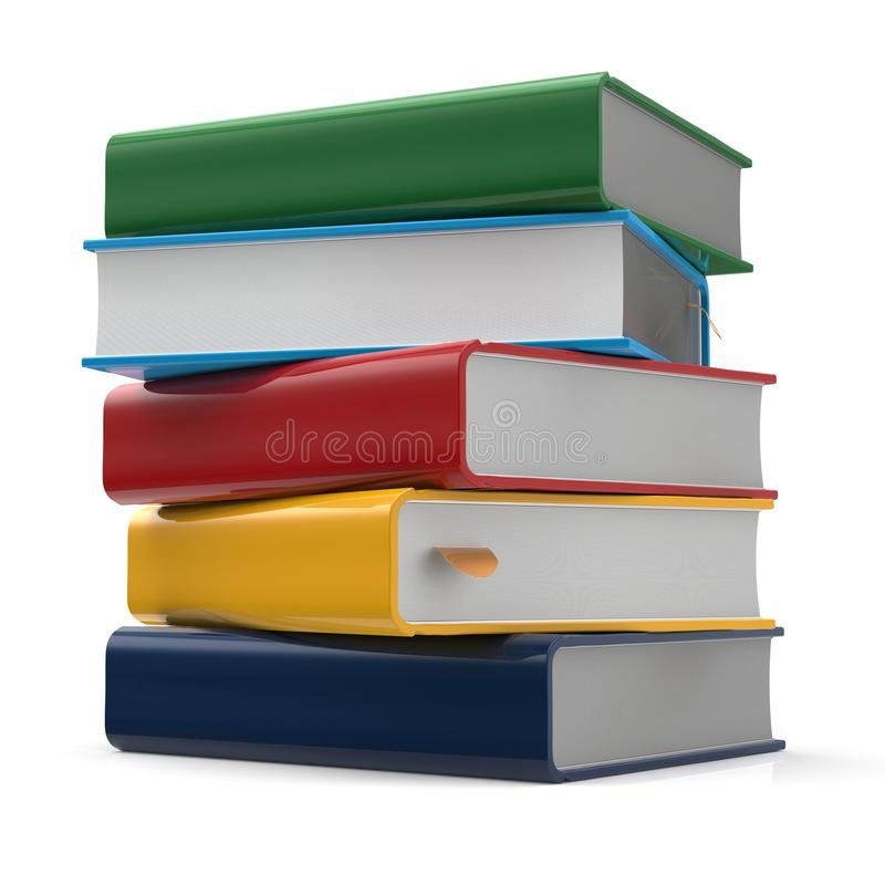 Book blank stack of books covers multicolored textbooks stock illustration