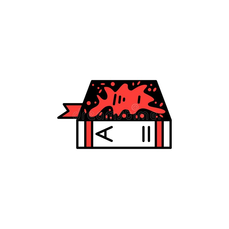 Book, blood, genre icon. Element of literary genres icon for mobile concept and web apps. Detailed Book, blood, genre icon can be. Used for web and mobile on royalty free illustration
