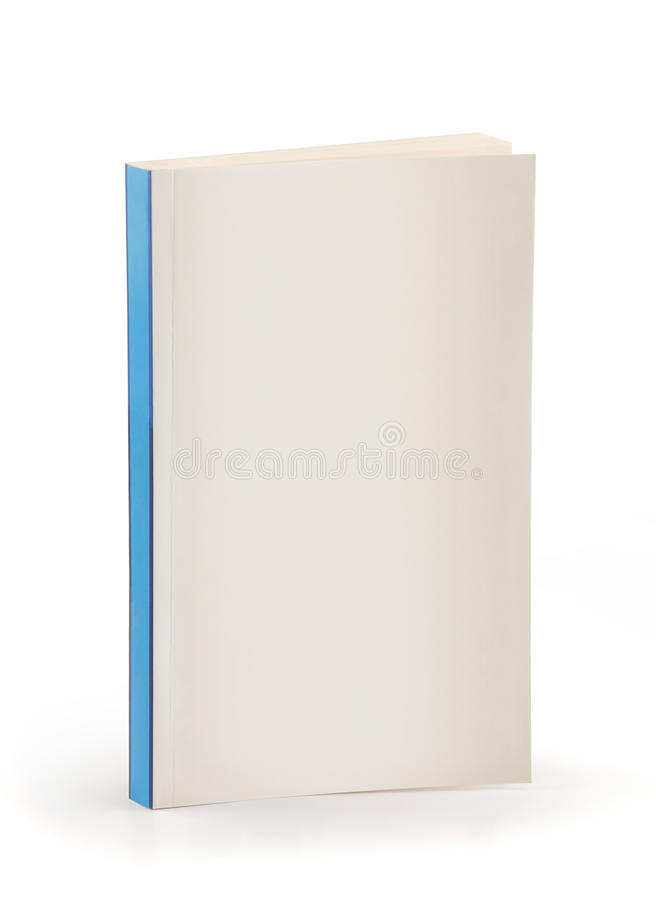 Book blue back - cipping path stock photography