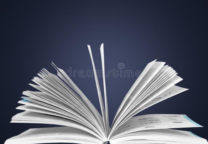 Book. Open dictionary page text reading education royalty free stock photography