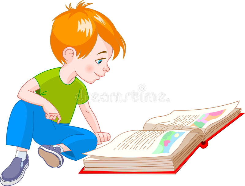 Book boy stock illustration