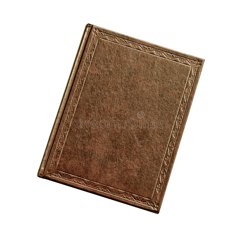 Book brown isolated on white. Background stock photos