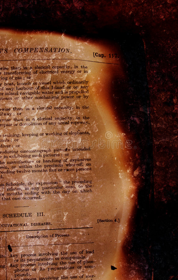 book burned στοκ εικόνες