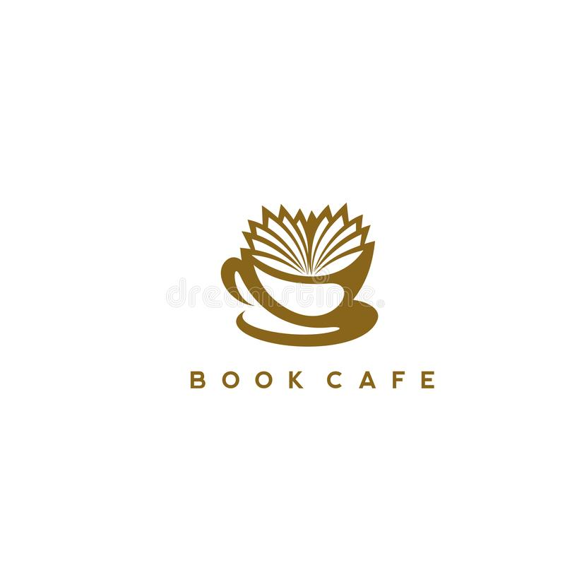 Illustration Of A Coffee Cup With A Book Stock Vector