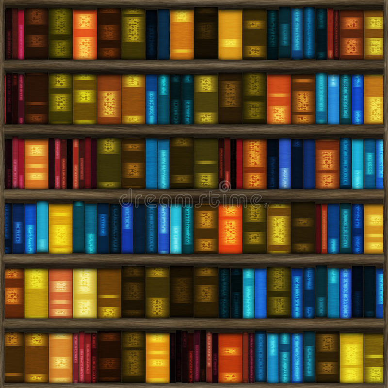 Download Book case stock illustration. Image of library, many - 13440466