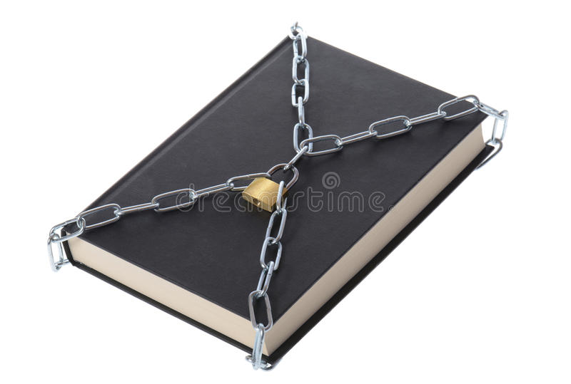 Book in chains royalty free stock image