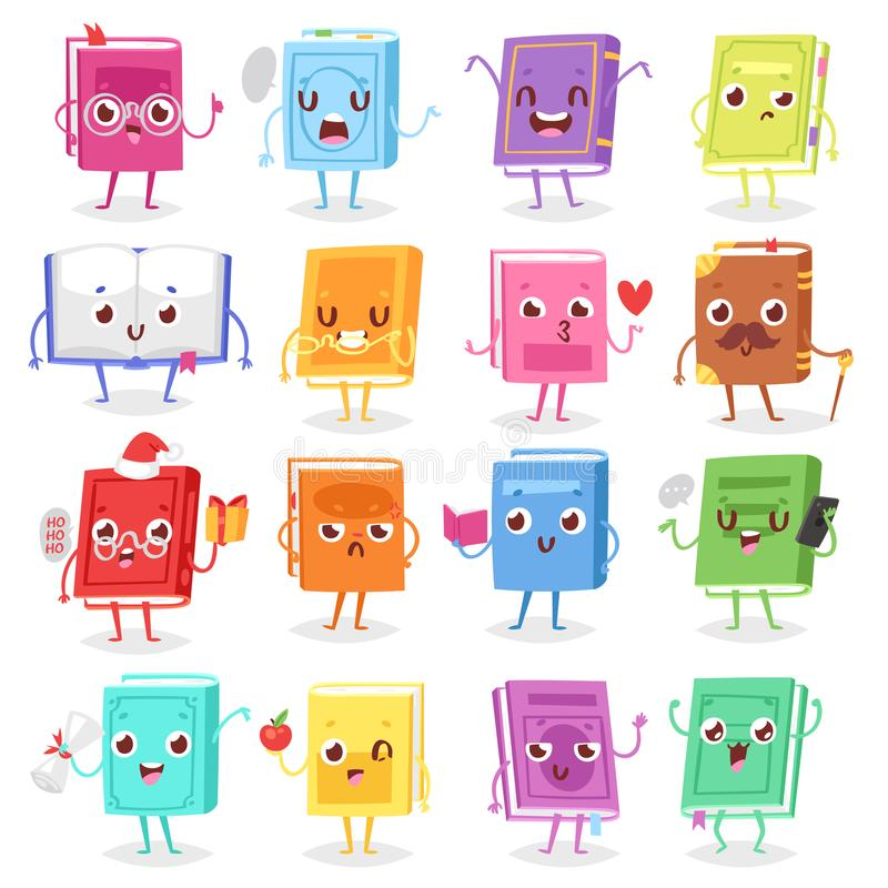 Free Book Character Vector Cartoon Emotion Textbook With Childish Face Expression On Notebook Cover Illustration Educational Stock Image - 114518091