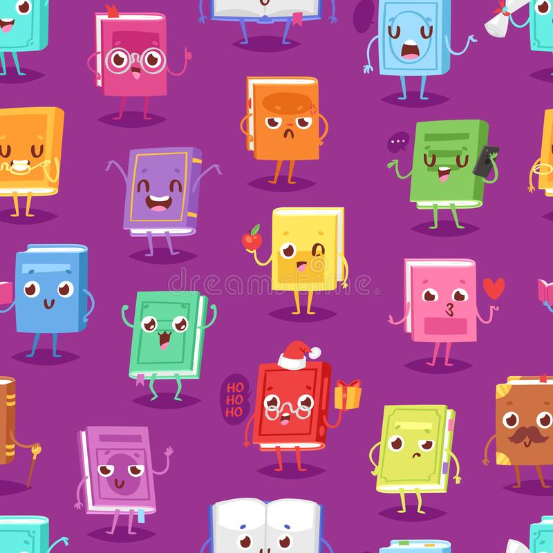 Free Book Character Vector Cartoon Emotion Textbook With Childish Face Expression On Notebook Cover Illustration Educational Stock Photos - 120293783