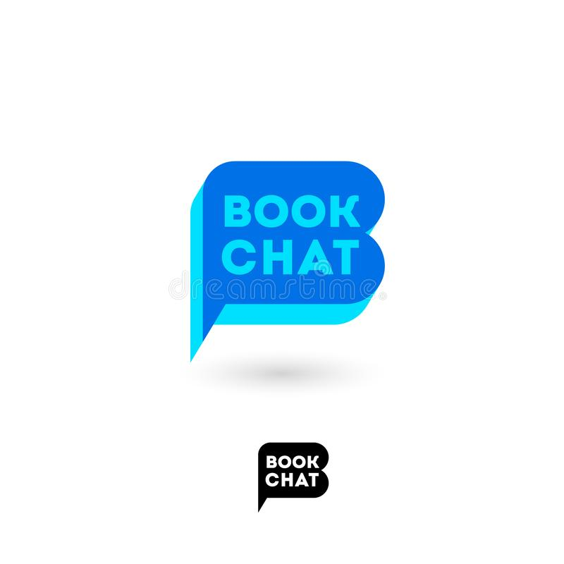 Free Book Chat Logo. B Letter. Digital Library Chat. The Literary Community. Stock Photo - 126541290