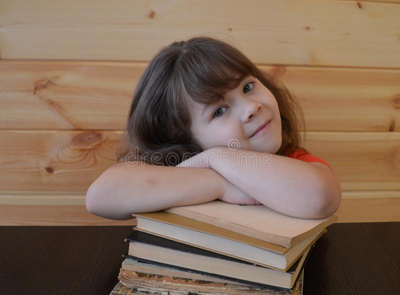 Book, child, education, reading, student, young, woman, school, little, learning, white, read, studying, cute, books, beautiful, h stock image