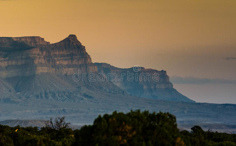 The Book Cliffs from Utah stock image