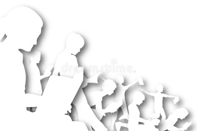 Book club cutout stock illustration