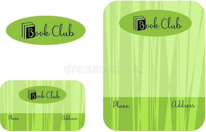 Book Club, Learning Center School Education Logo, Business Card 2 x 3.5, Flyer 4.25 x 5.5. Modern School Education Logo Business Card Flyer stock illustration