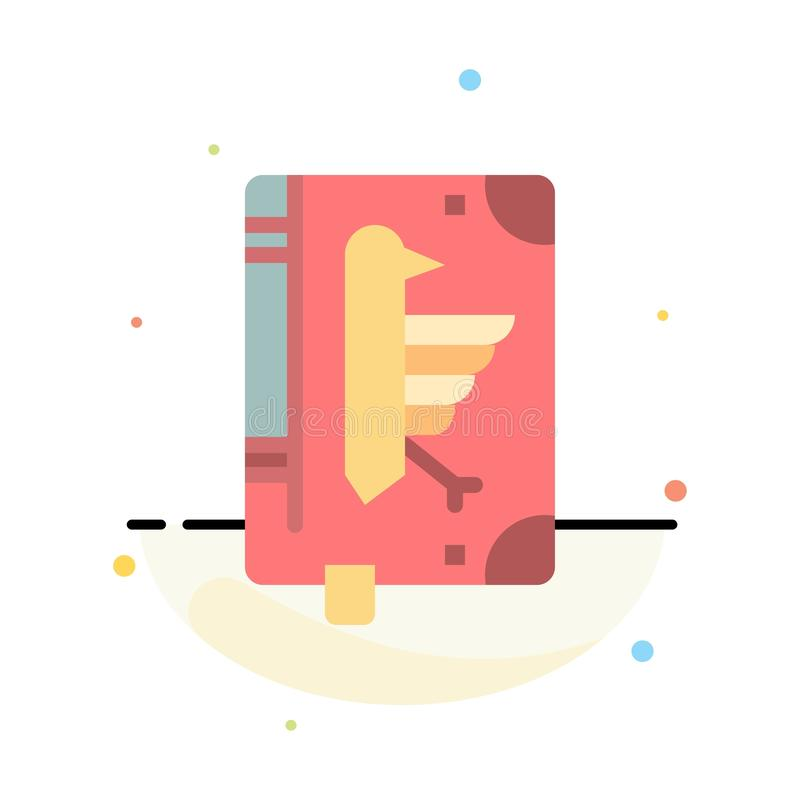 Book, Codex, Constitution, Declaration, Edict Abstract Flat Color Icon Template royalty free illustration