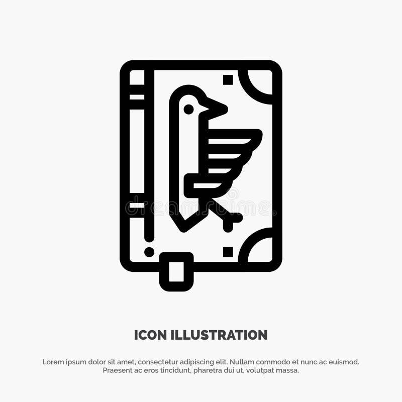 Book, Codex, Constitution, Declaration, Edict Line Icon Vector stock illustration