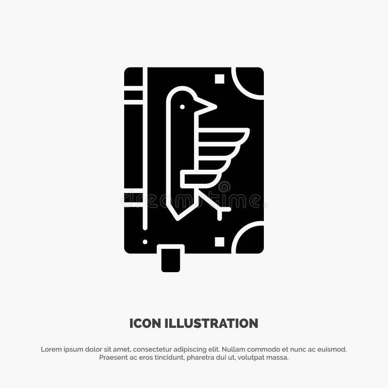 Book, Codex, Constitution, Declaration, Edict solid Glyph Icon vector stock illustration