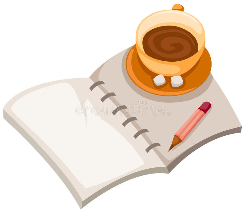 Book and coffee cup