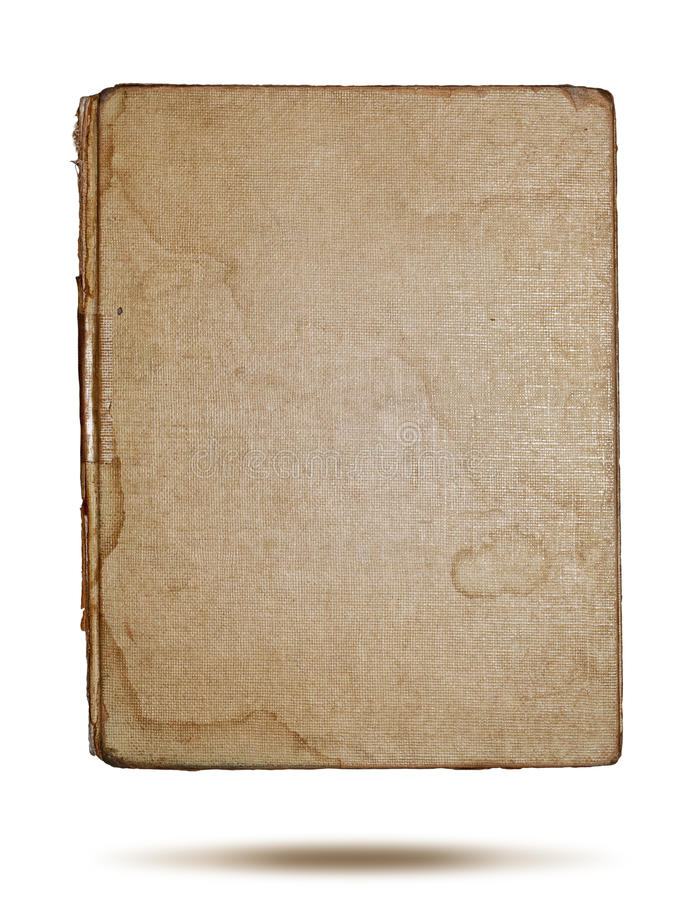Book cover. A textured linen colored fabric book cover worn on edges stock images