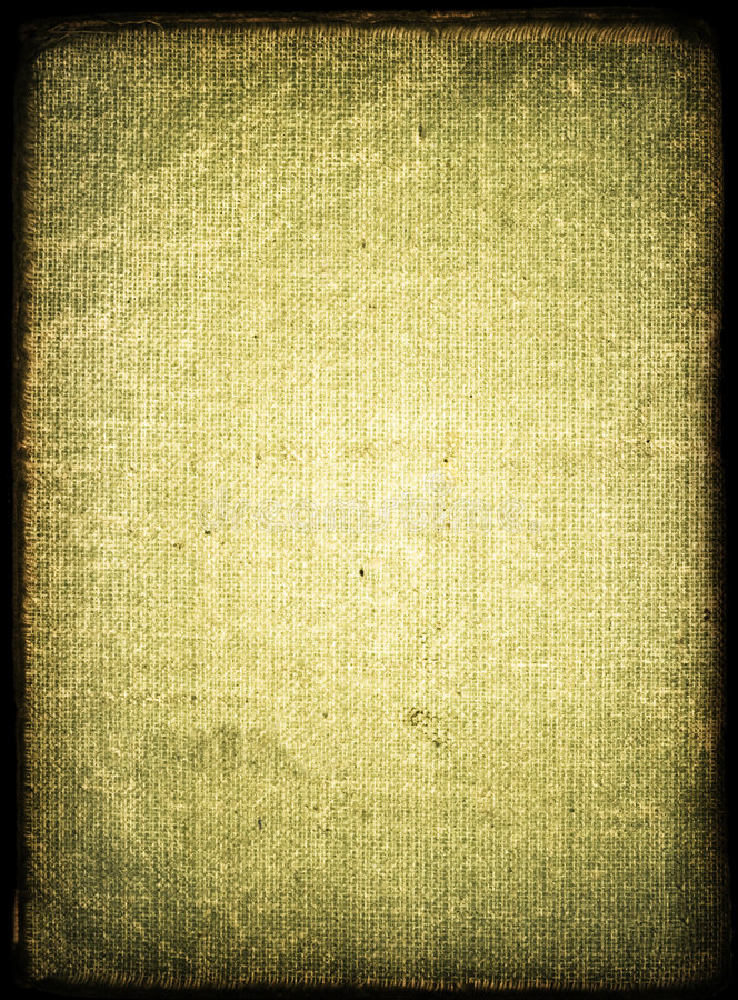 Book cover. Green shabby grunge book cover royalty free stock image