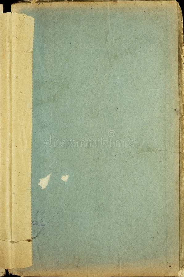 Book cover. Grunge stained old book cover stock photo