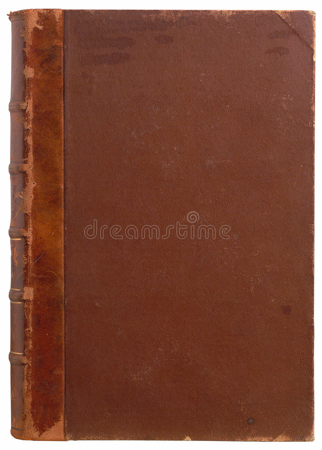 Book cover. Aged blank brown book cover royalty free stock photos