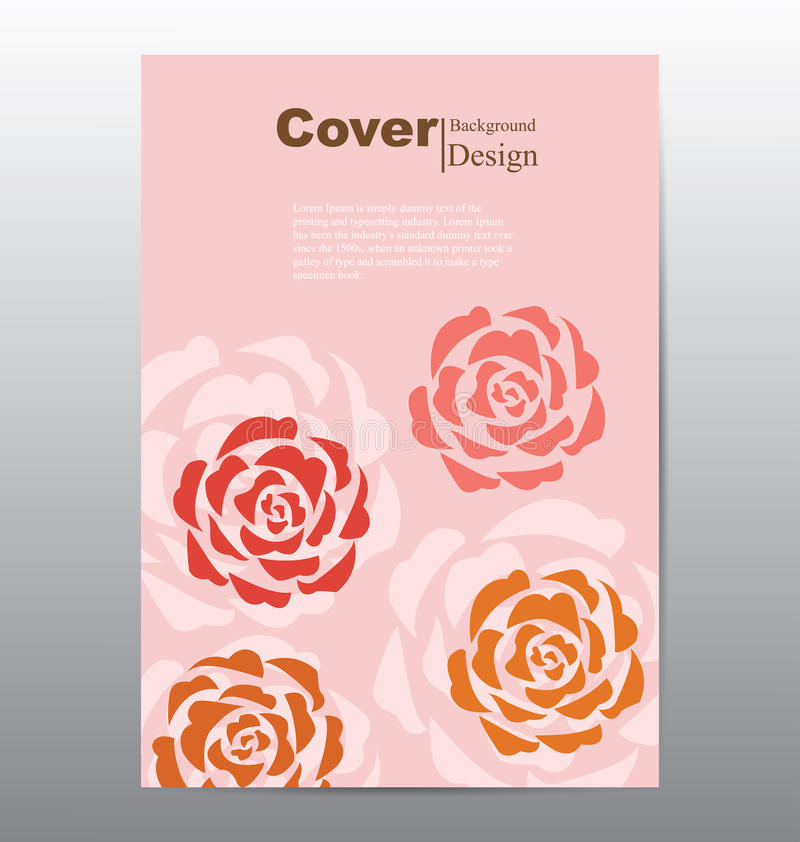 book cover with abstract flower background stock vector