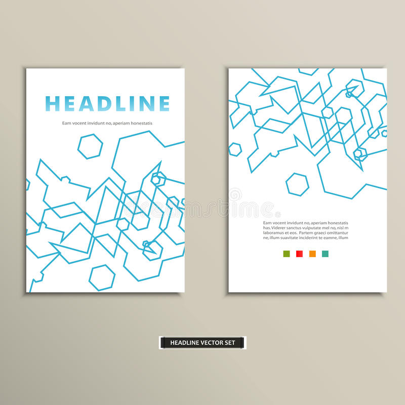 Book cover with abstract linear circuits eps vector illustration