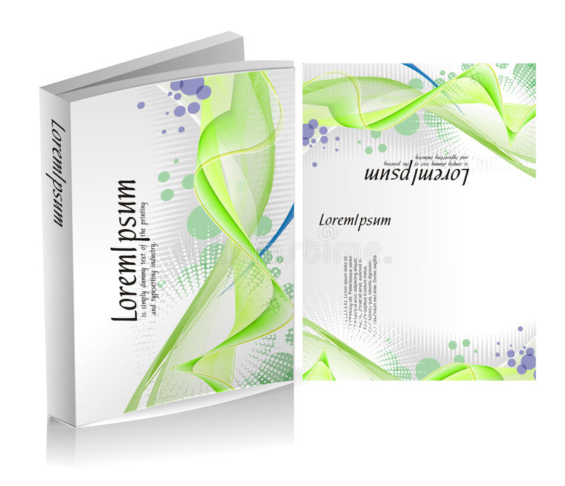 Book cover design stock illustration