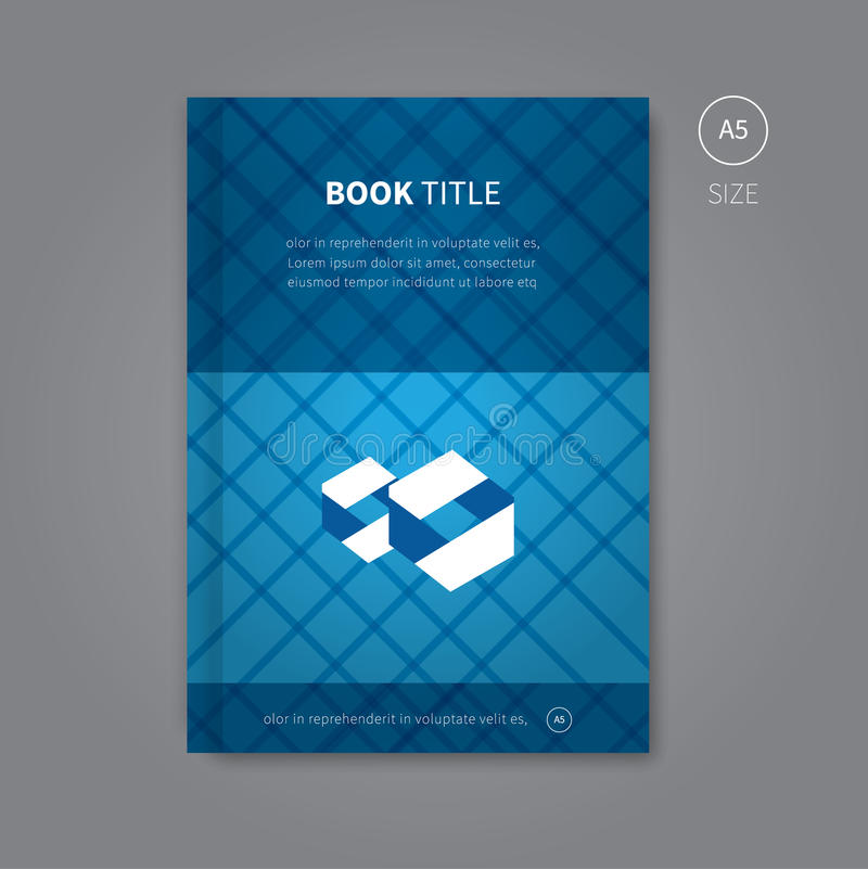 Book Cover Pattern Generator ~ Book cover design with blue pattern stock vector image