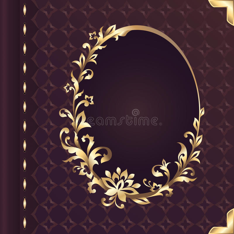 Book Cover Design Flower : Book cover design with decorative floral ornate frame