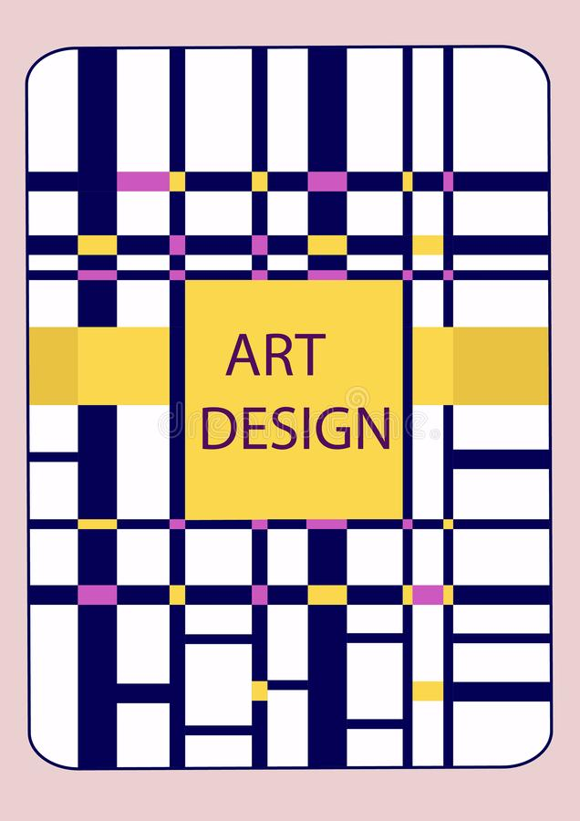 Book cover design template with abstract geometric elements vector illustration