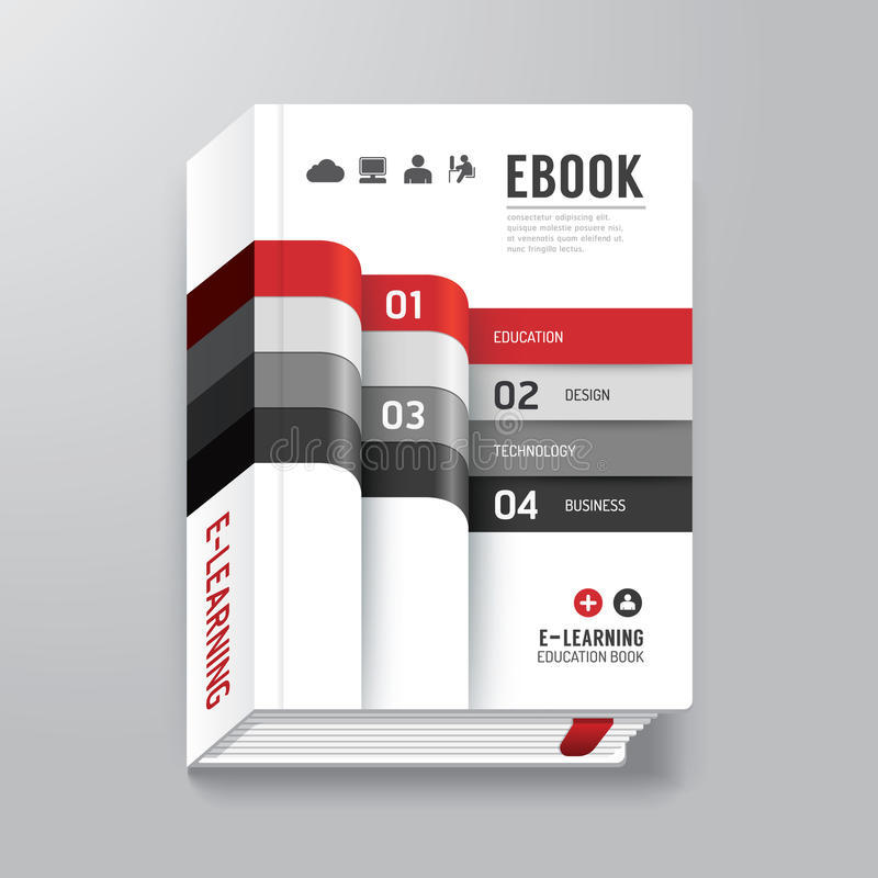 Book Cover Illustration Royalties : Book cover digital design minimal style template stock