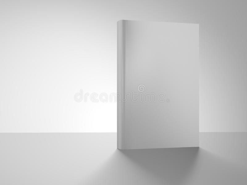 Book cover isolated on white background. 3d illustration. Front. Standing royalty free illustration