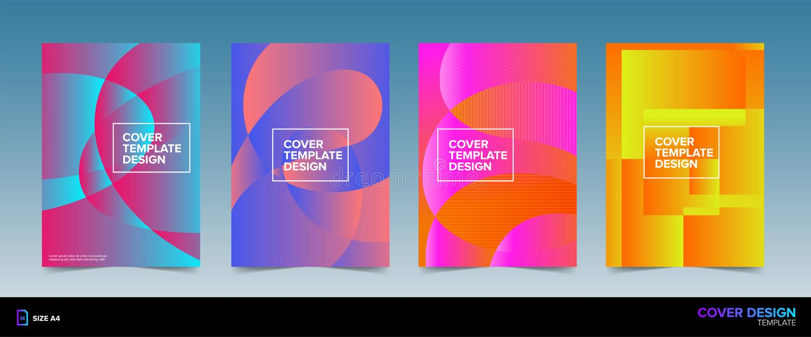 Book Cover Design Front And Back With Bleed Area In Vector Ready For