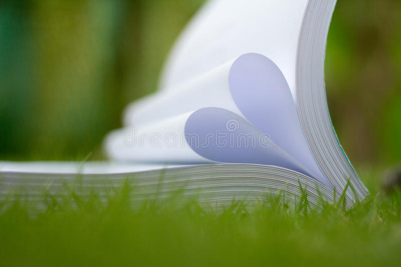 Download Book Curved A Heart Shape Stock Photo - Image: 83720433